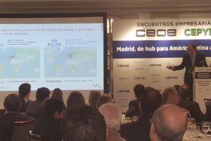 Luis Gallego durante su intervención en los Encuentros Empresariales de CEOE y CEPYME.