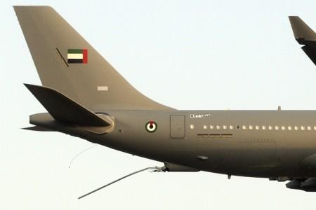 Detalle de la cola del A330 MRTT014 sin la pértiga