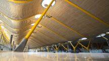 El aeropuerto de Madrid-Barajas sin pasajeros