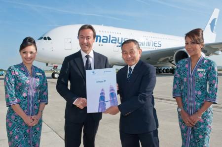 Entrega del primer Airbus A380 de Malaysia Airlines