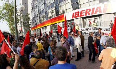 Los sindicatos de Iberia podrían convocar huelga en febrero