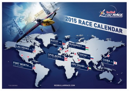 Sedes de la Red Bull Air Race 2015.