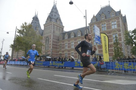 Participantes del Maraton de Amsterdam.