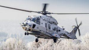 El rpimer NH90 Sea Lion de la MArina alemana en sus pruebas previas a su entrega.