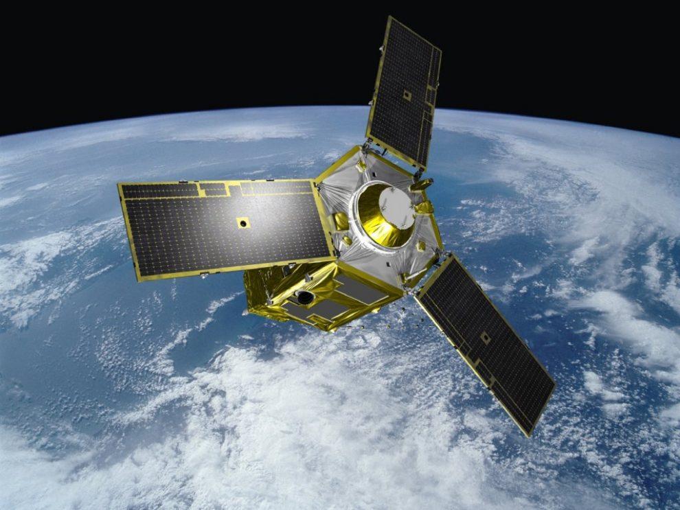 Ilustración con el aspecto del Mohammed VI en el espacio.