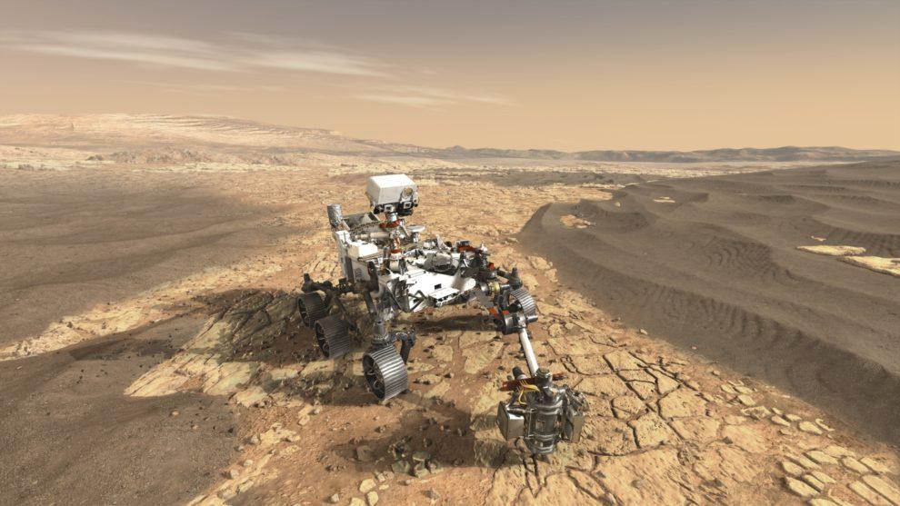 La msiión Mars 2020 incluye un rover que se espera funcione durante al menos un año marciano en el cráter Jezero.