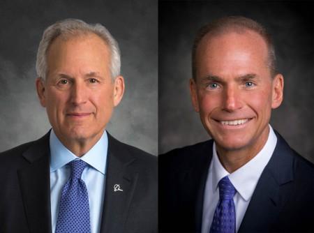 Jim McNerney (izquierda) y Dennis A. Muilenburg (derecha)