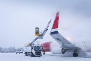 El Vestergaard Elephant e-BETA usado por Menzies en el aeropuerto de Oslo.