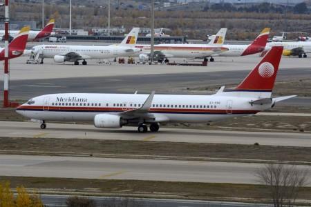 Boeing 737 de Meridiana.