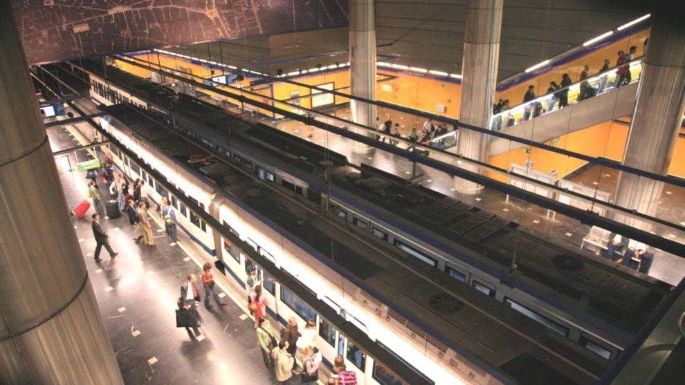 Estación de Metro de las terminales 1, 2 y 3 del aeropuerto Madrid Barajas.
