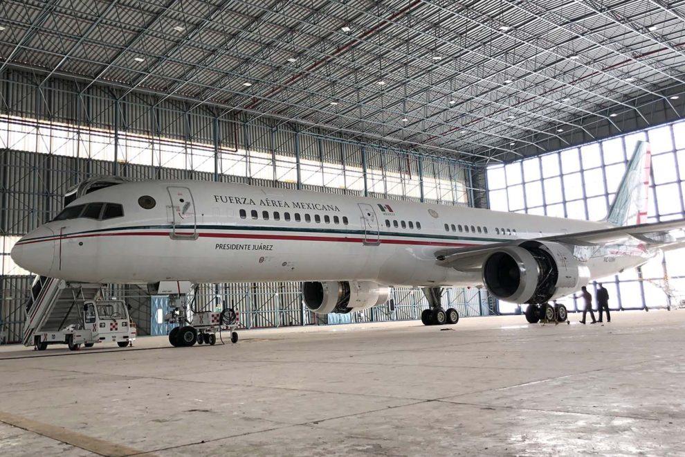 El Boeing 757 de Presidencia de México fue sustituido por un B-787 y retirado en 2016.
