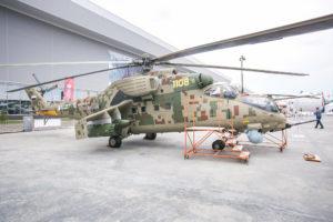 Mi-35P presentado en Army 2018.