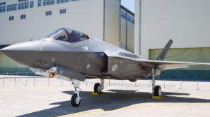 El F-35A accidentado en una fotografía del día que fue presentado por Mitsubishi.