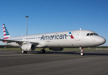 El Airbus A321 msn6621, futruro N162AA de American Airlines tras su salida del hangar de pintura en Mobile.