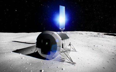Ejemplo de un posible primer módulo para los astronáutas en la Luna.
