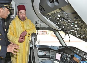 Mohammed VI en el Boeing 787