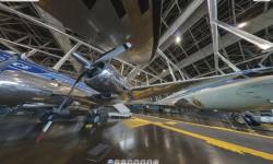 Una de las muchas vistas del museo de la USAF mediante la visita virtual