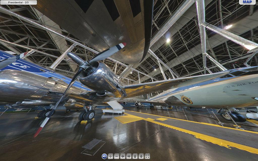 Aviones presidenciales en el museo de la USAF