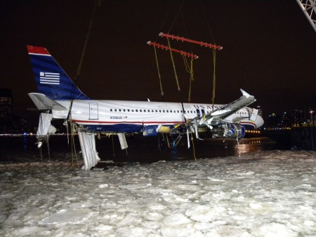 Airbus A320 de US Airways accidentado en el río Hudson de Nueva York