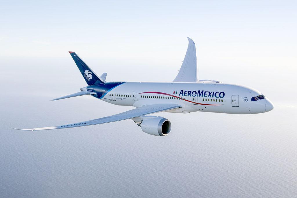El primer Boeing 787 de Aeroméxico entrará en servicio en septiembre en rutas dentro de México.