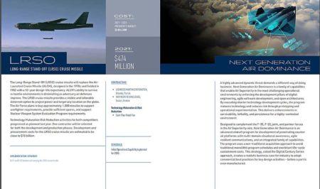 Página del informe donde aparece el nuevo avión, sin datos a diferencia del resto.