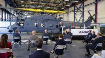 Ceremonia de entrega en las instalaciones de Airbus Helicopters en Albacete del primer NH90 del Ejército del Aire (Foto: La Mancha Press)