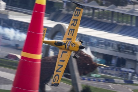 Nigel Lamb, ganador de la Red Bull Air Race 2014.