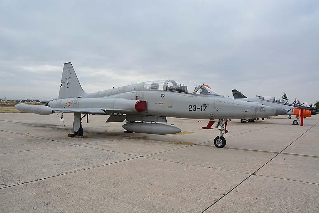 Northrop CASA F-5. otro de los aviones que CASA construyó bajo licencia para el Ejército del Aire español.