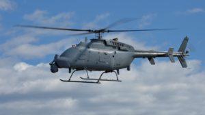 MQ-8C con el radar AN/ZPY-8 montado bajo el morro junto a la bola del FLIR.
