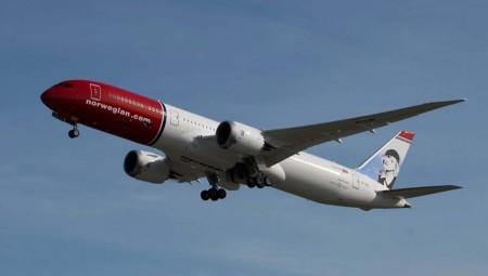 El primer Boeing 787-9 de Norwegian está dedicado a Greta garbo, cuya imagen luce en su cola.