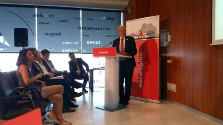 Presentación de las nuevas rutas intercontinentales de Norwegian desde el aeropuerto de Barcelona El Prat.