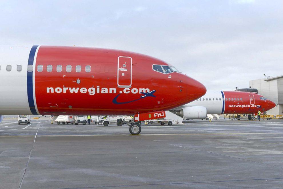 Aviones Boeing 737-800 de Norwegian.