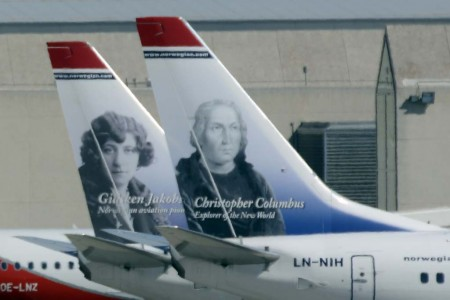 Aviones de Norwegian en el aeropuerto de Palma de Mallorca.