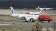 Aviones de Norwegian en madrid.