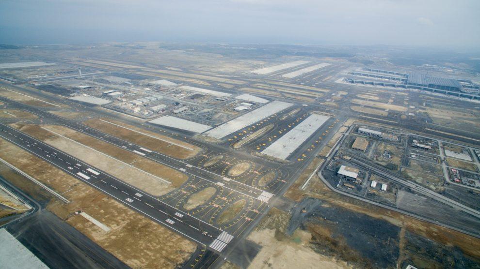 Vista aérea del nuevo aeropuerto de Estambul.