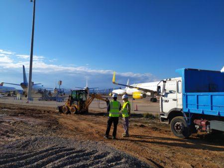 Inicio de las obras del nuevo hangar de Brok Air en Csstellón.