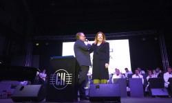 Mariluz Barreiros,madrina del Boeing 767 de Privilege, bautizado con el nombre de su padre, una de las invitadas al bautismo del Boeing 777.