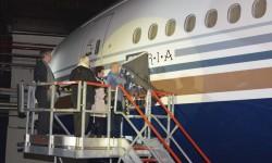 Descubriendo el nombre de Auria en el Boeing 777 de Privilege.