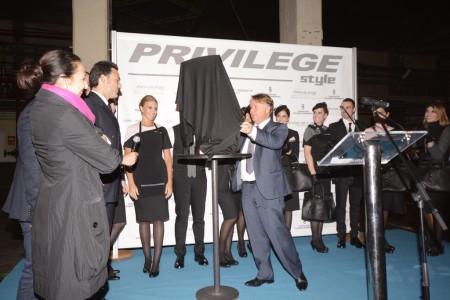 Bautismo del Boeing 767 de Privilege