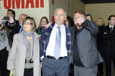 Chema Alvarez recibe al comandante Jesús Guil.