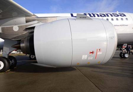 Motor PW1100G del primer Airbus A320neo aceptado por Lufthansa.