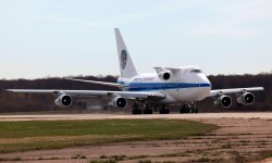 Pratt & Whitney usa este Boeing 747SP como banco de ensayo en vuelo de sus motores.