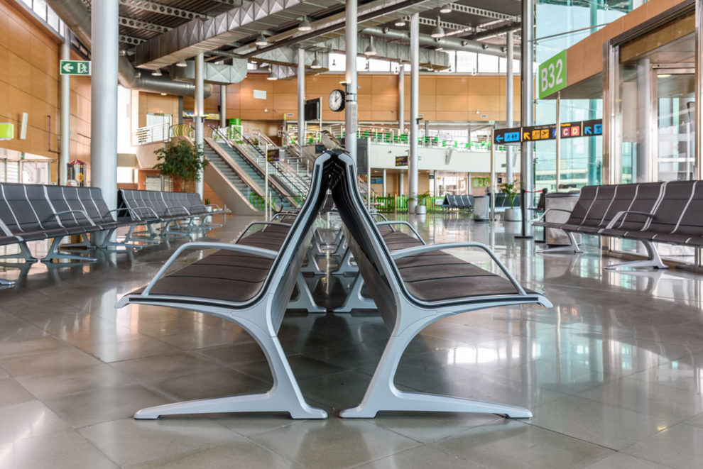 El aeropuerto de Palma de Mallorca sin pasajeros.