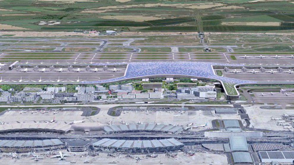 Aspecto que habría tenido la Terminal 4 del aeropuerto de París Charles de Gaulle.