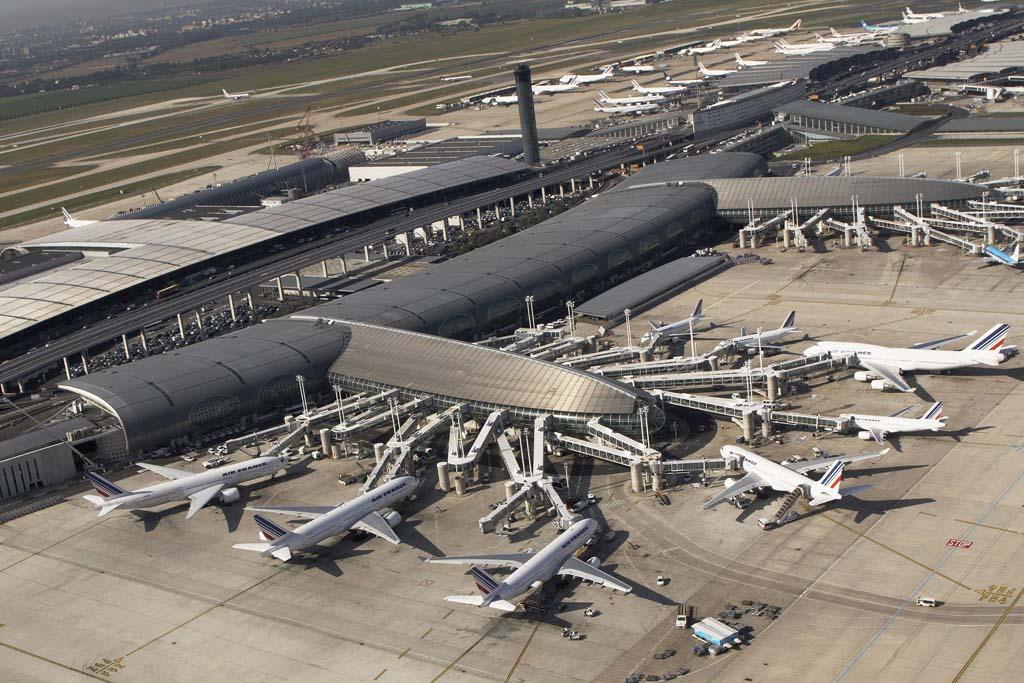 Vista aérea del aeropuerto de París Charles de Gaulle.