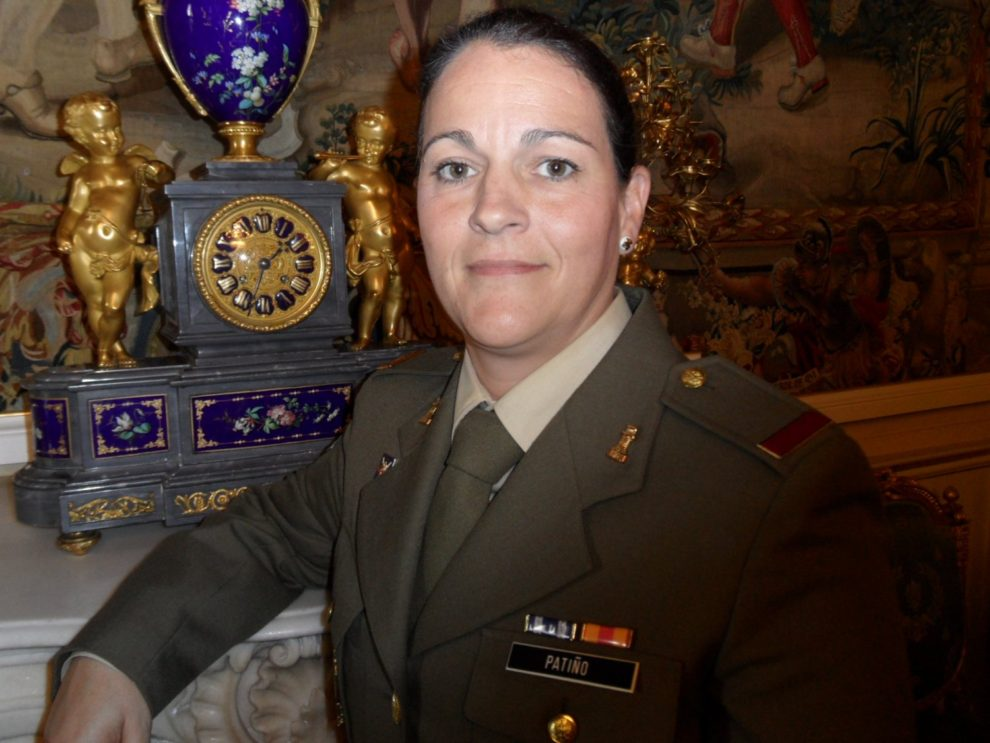 María Jesus Patiño, soldado del BHELMA IV de FAMET con base en El Copero.