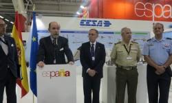 Pedro Argüelles destacó el esfuerzo que hace la industria aeroespacial española para estar presente cada dos años en Le Bourget.