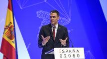 El presidente del Gobierno español, Pedro Sánchez, durante su presentación del Plan España 2050.
