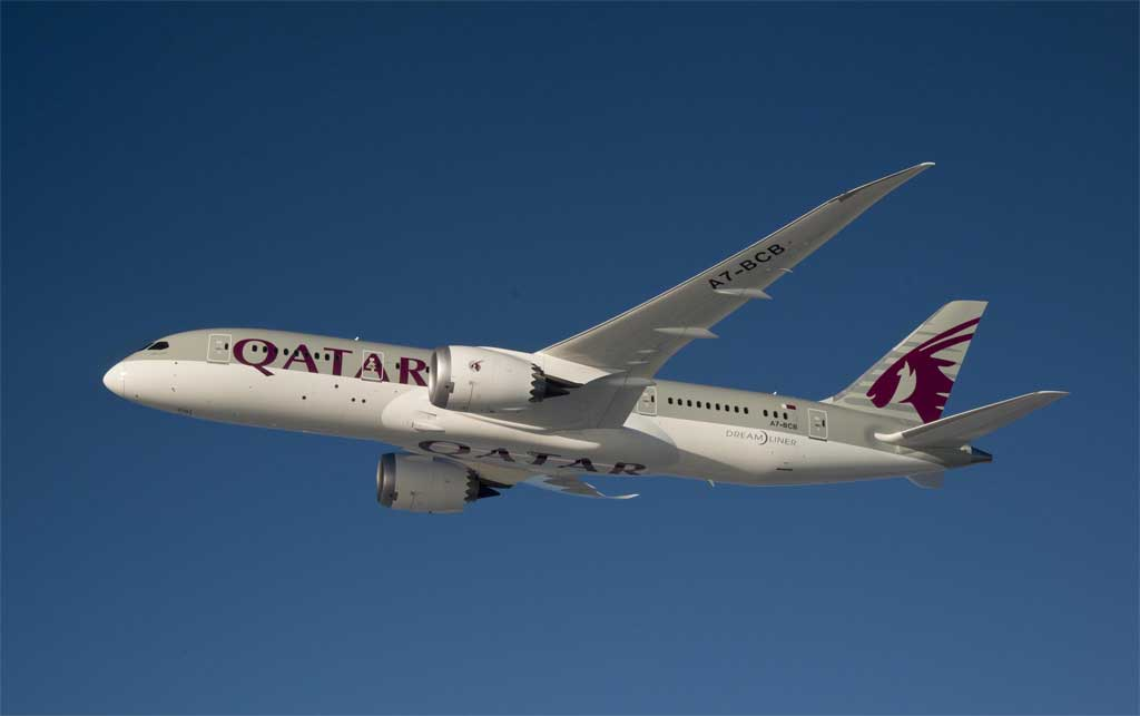 Qatar airways trae el nuevo boeing b 787 a madrid fly news for Oficina qatar airways madrid