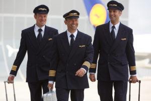 Pilotos de Lufthansa en una imagen promocional de la aerolínea.